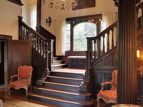 Victorian Home Foyer : Asheville north carolina mansion interior foyer bannister
