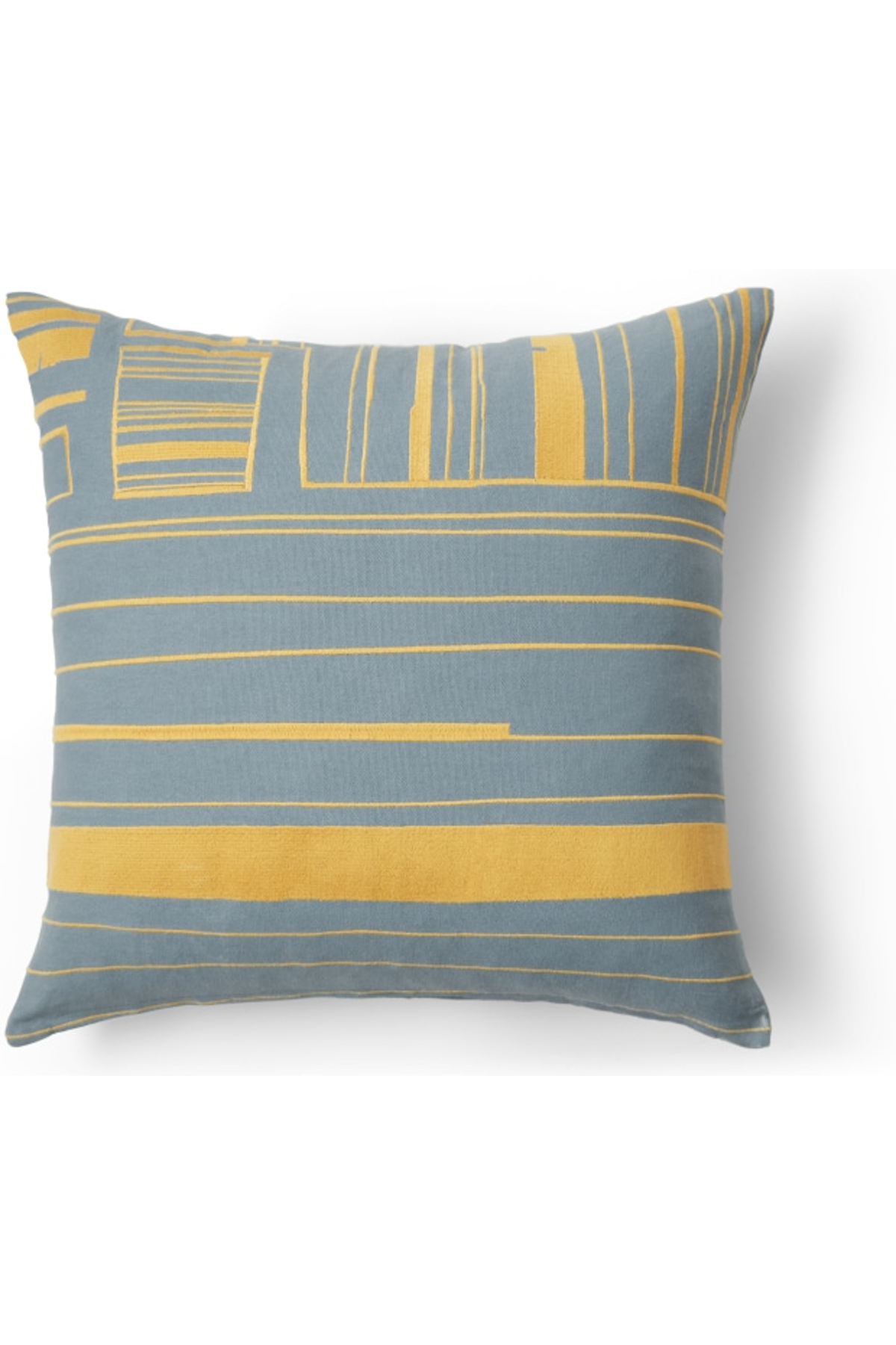 Uno Cushion, 45x45cm, Yellow and Blue Cushions
