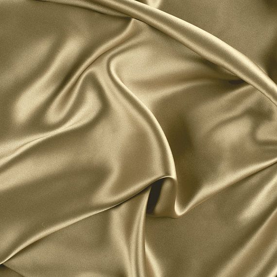 45 Wide 100 Silk Charmeuse Golden Tan By The Yard Silk Charmeuse Tan Silk Charmeuse