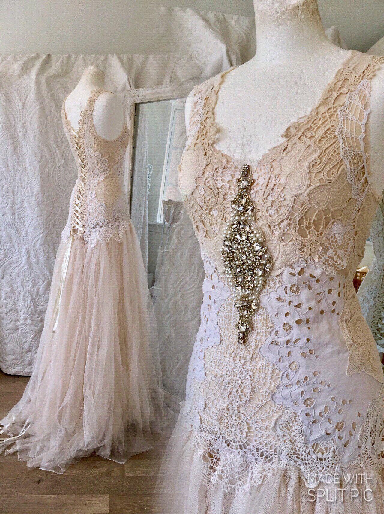 Ethereal wedding dress  Wedding dress EtherealBridal gown uniqueantique french laceBoho