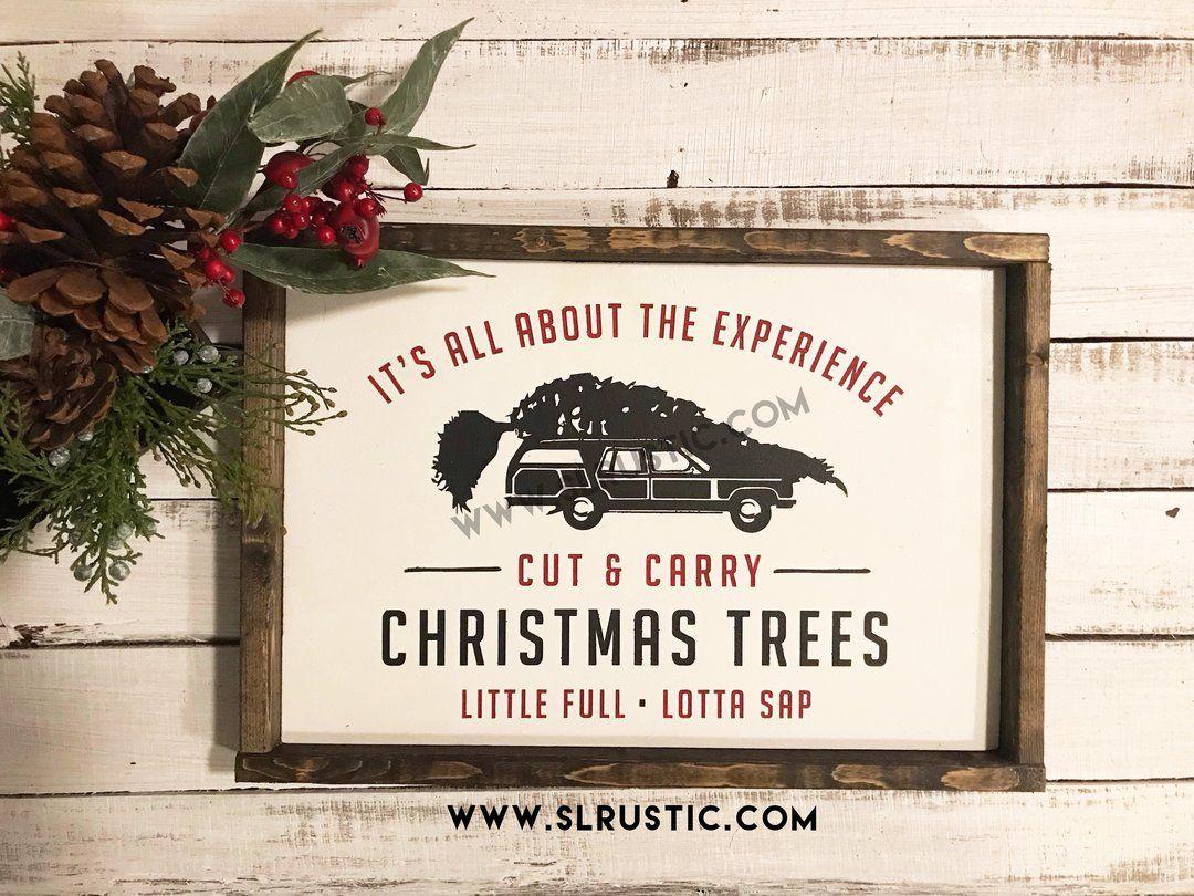 Christmas trees wood sign Christmas vacation National