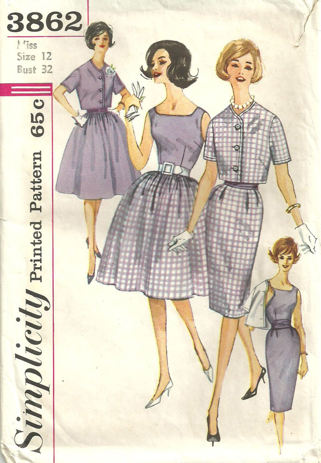 Simplicity 3682 ~ early 60s pattern ~ I adore this for cool summer ...