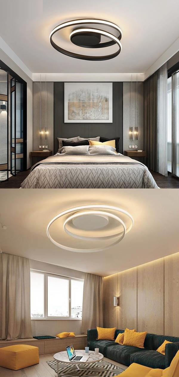 Modern Ceiling Lights Led Lamp For Living Room Bedroom Study Room White Black Color Surface Mounted Ceiling Lamp Deco Ac85 265v In 2020 Ceiling Lights