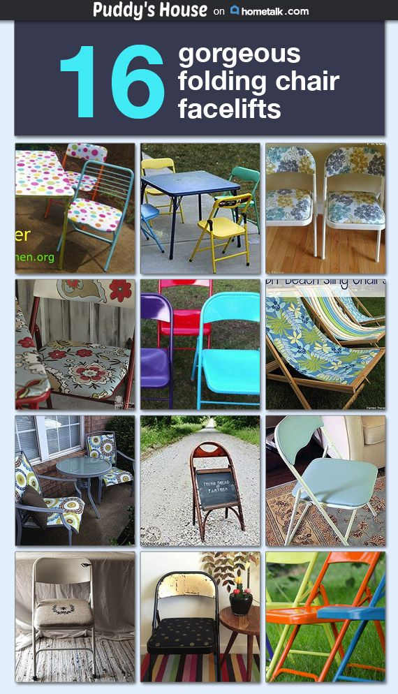 Folding Chair Makeovers Idea Box By Puddy S House Folding Chair
