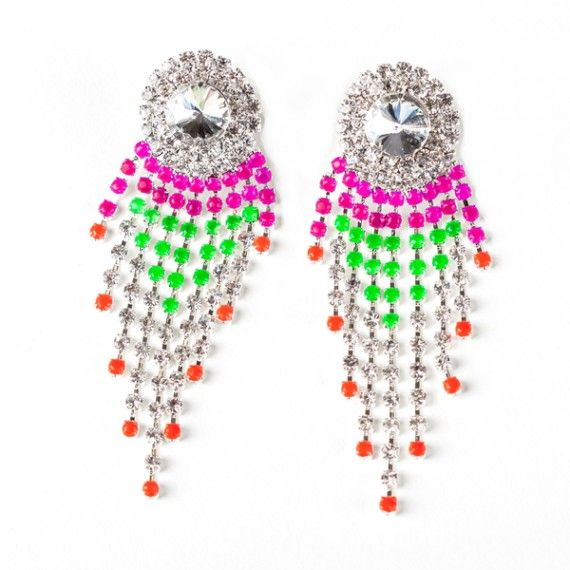 Tropical Princess Drape Earrings- these are a fun way to add a little color and a little bling to any outfit.