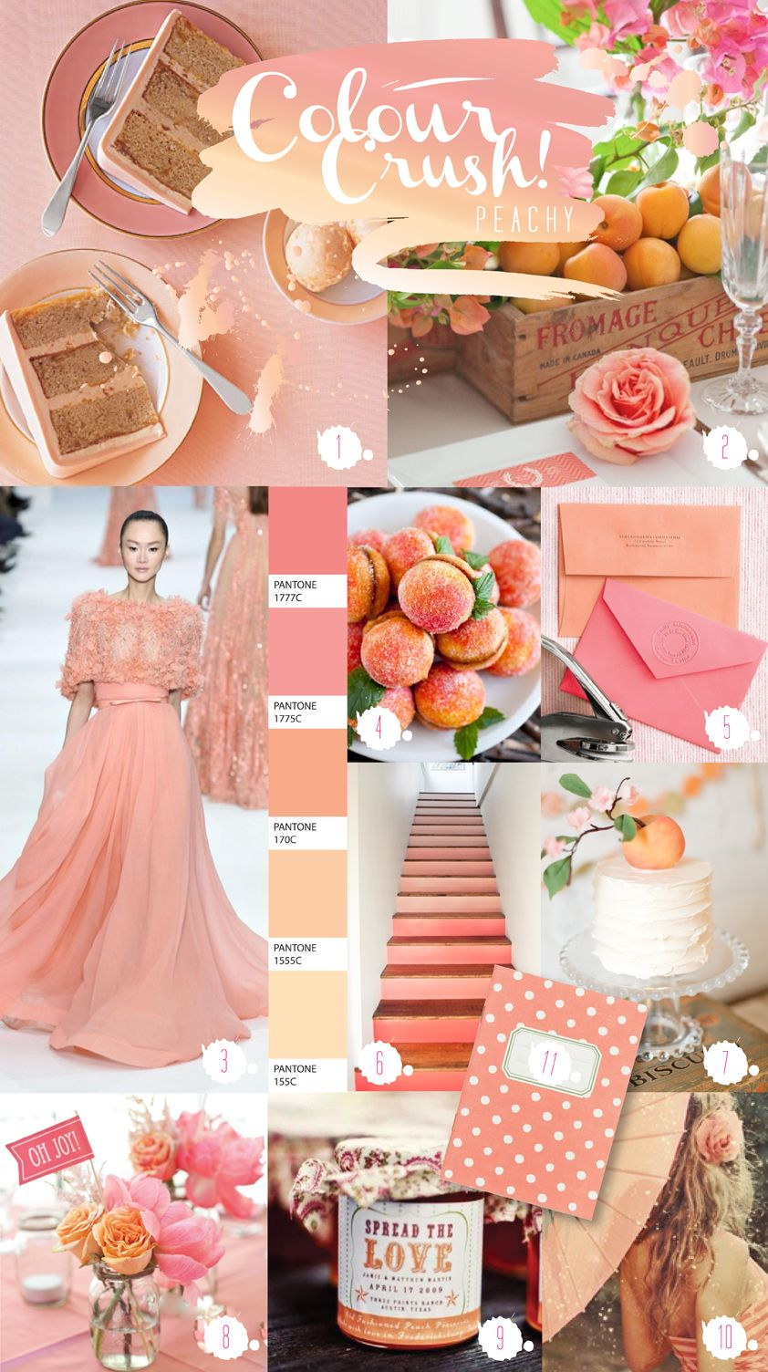 Wedding Colors 2017 Peach Colour Crush Chronicles By Paperknots