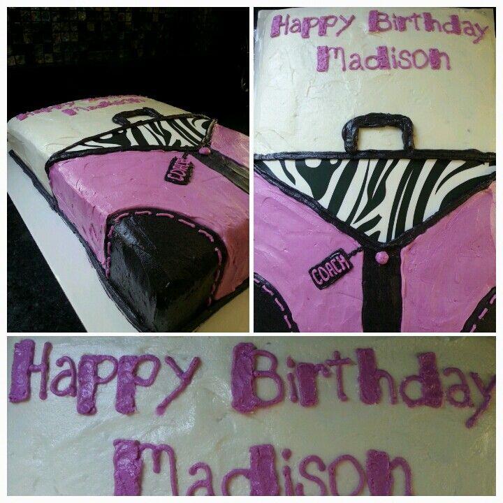 Coach purse cake.