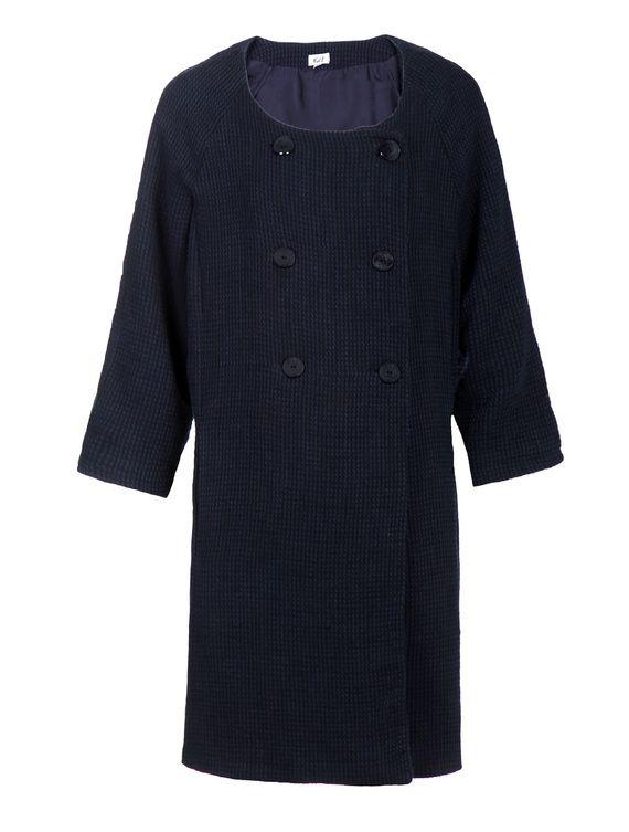 מעיל צמר כחול נייבי מידה m