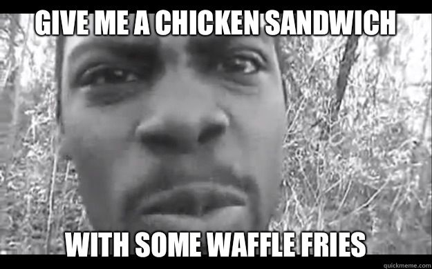 Unforgivable chicken sandwich