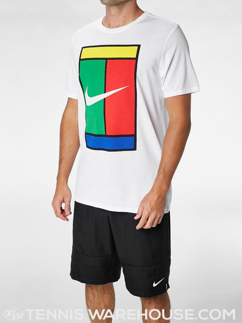 nike men 39 s spring oz court logo t shirt men 39 s tennis wear fashion pinterest tennis. Black Bedroom Furniture Sets. Home Design Ideas