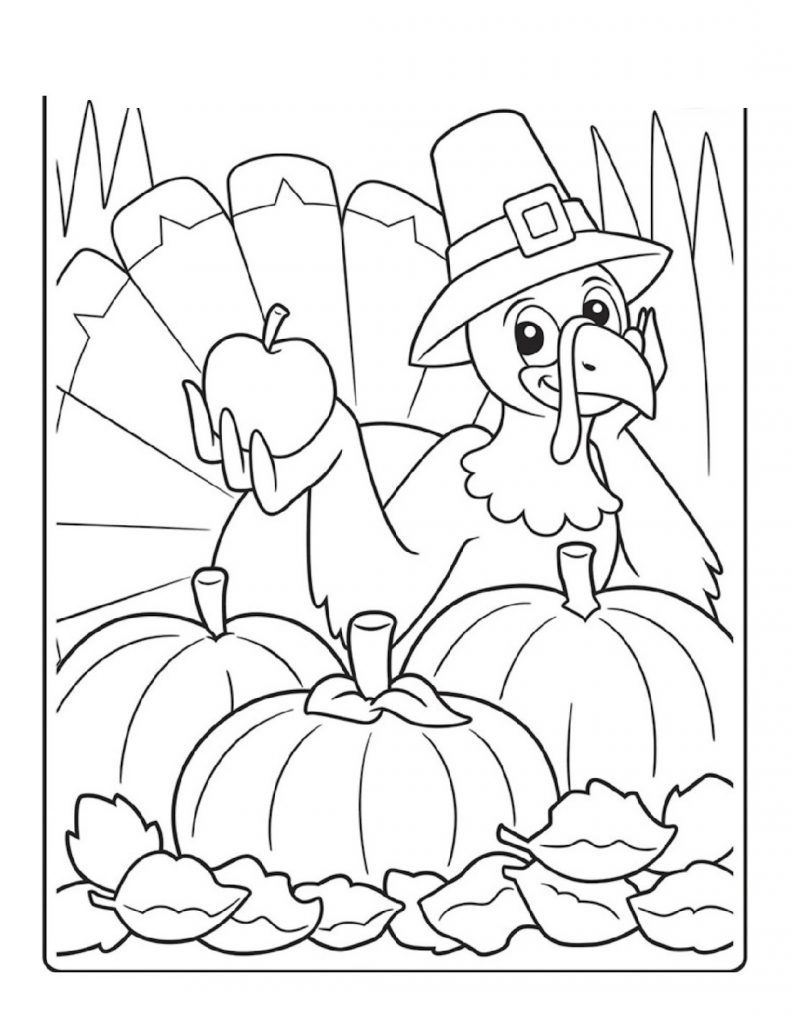 Looking for free Thanksgiving-themed coloring pages that ...