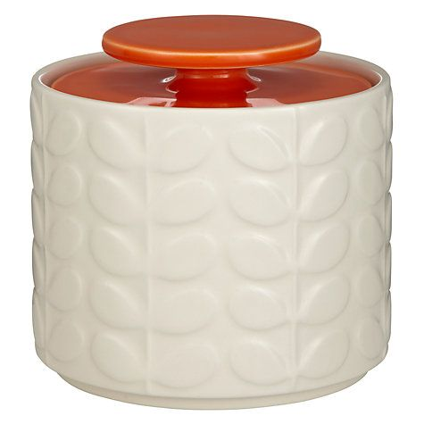 Orla Kiely Raised Stem Ceramic Kitchen Storage Jar 1l