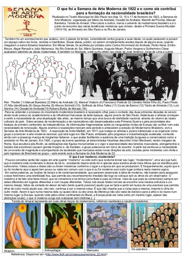 Atividades Semana Da Arte Moderna Com Imagens Semana Da Arte