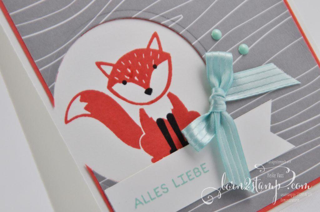 born2stamp STAMPIN' UP! Grusskarte Foxy friends - Adventsgruen - Designer-Grusselemente