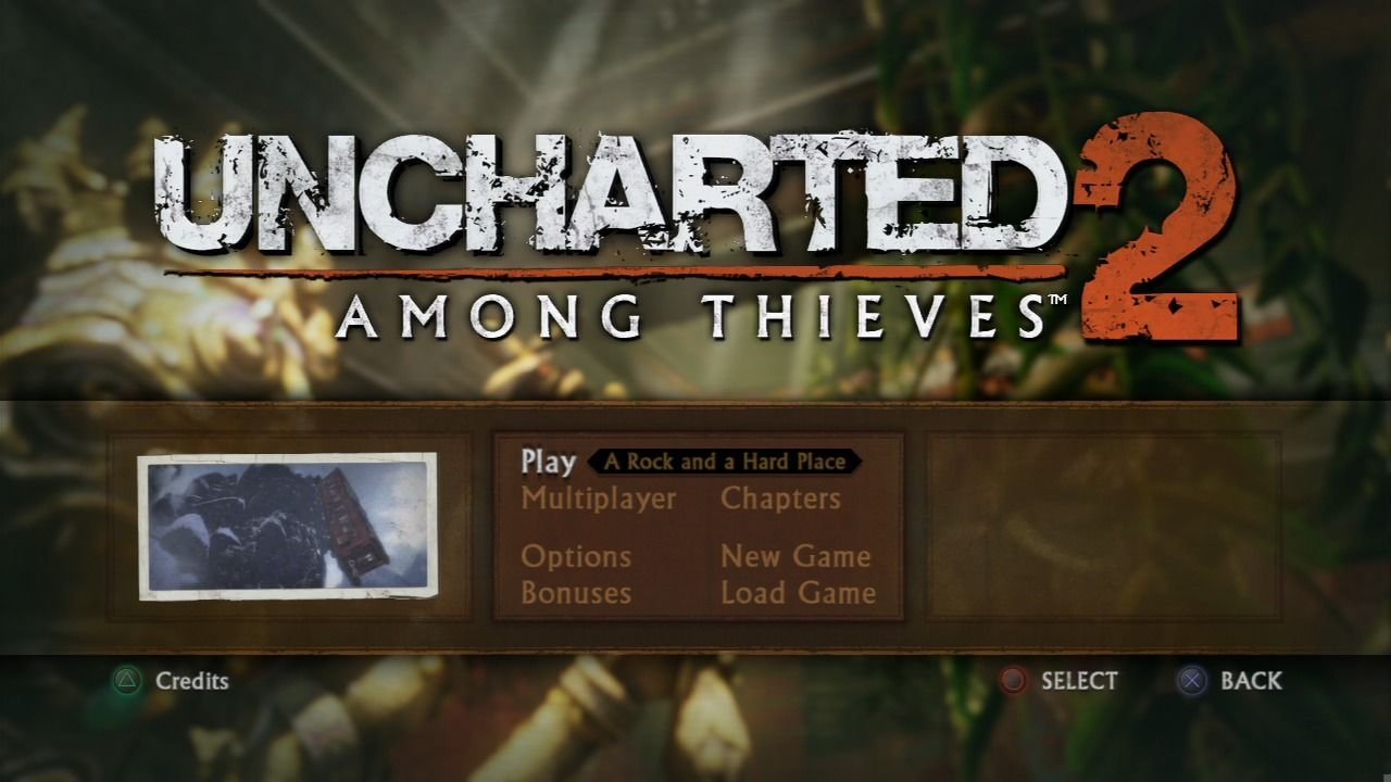 Uncharted 2] Main Menu   —game ui—   Games, News games, Game ui