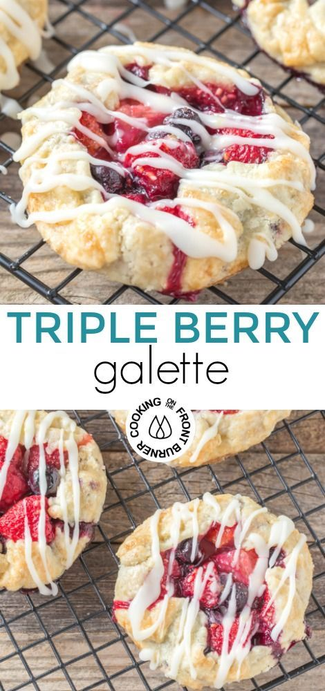 Triple Berry Galette with Mixed Fruit | Cooking on the Front Burner