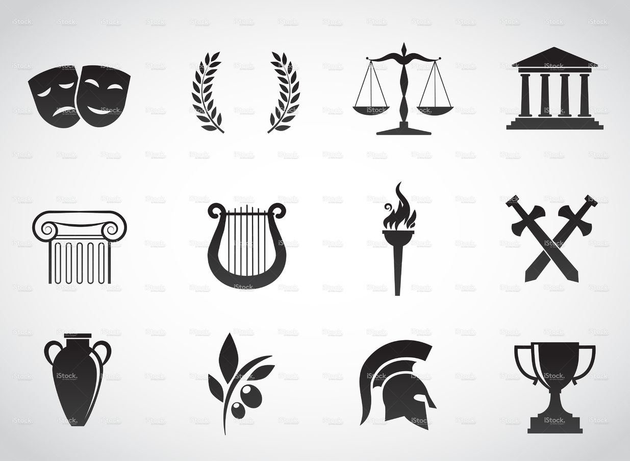 Vector icon set greek culture ancient greek and vector art ancient greek culture stock vector art 69761131 istock biocorpaavc Gallery