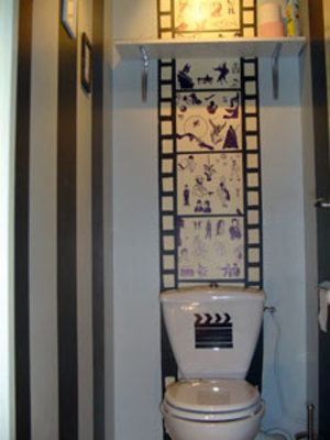 Wc cine toilettes originales pinterest decoration - Deco toilettes originales ...