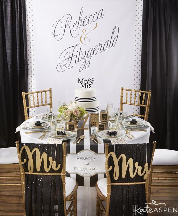 Black White And Gold Wedding: Classic Black And White Wedding Inspiration
