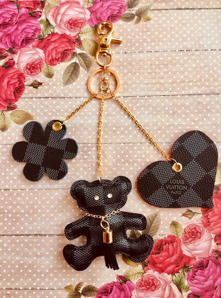 Beautiful Louis Vuitton Inspired Keychain Bag Charm With Inspired