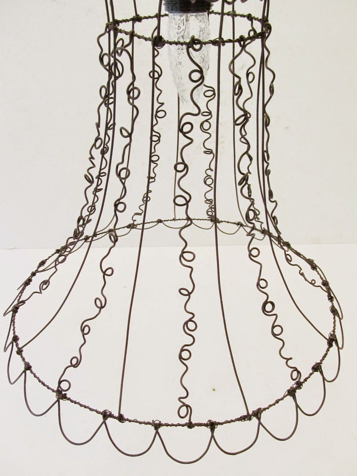 Wire lampshade art wire center curly wire hanging lampshade sassytrash lampshades pinterest rh pinterest co uk wire lampshades wire lampshade frames for sale greentooth Gallery