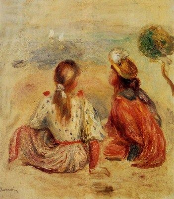 Pierre Auguste Renoir (1841-1919) Young Girls on the Beach 1898