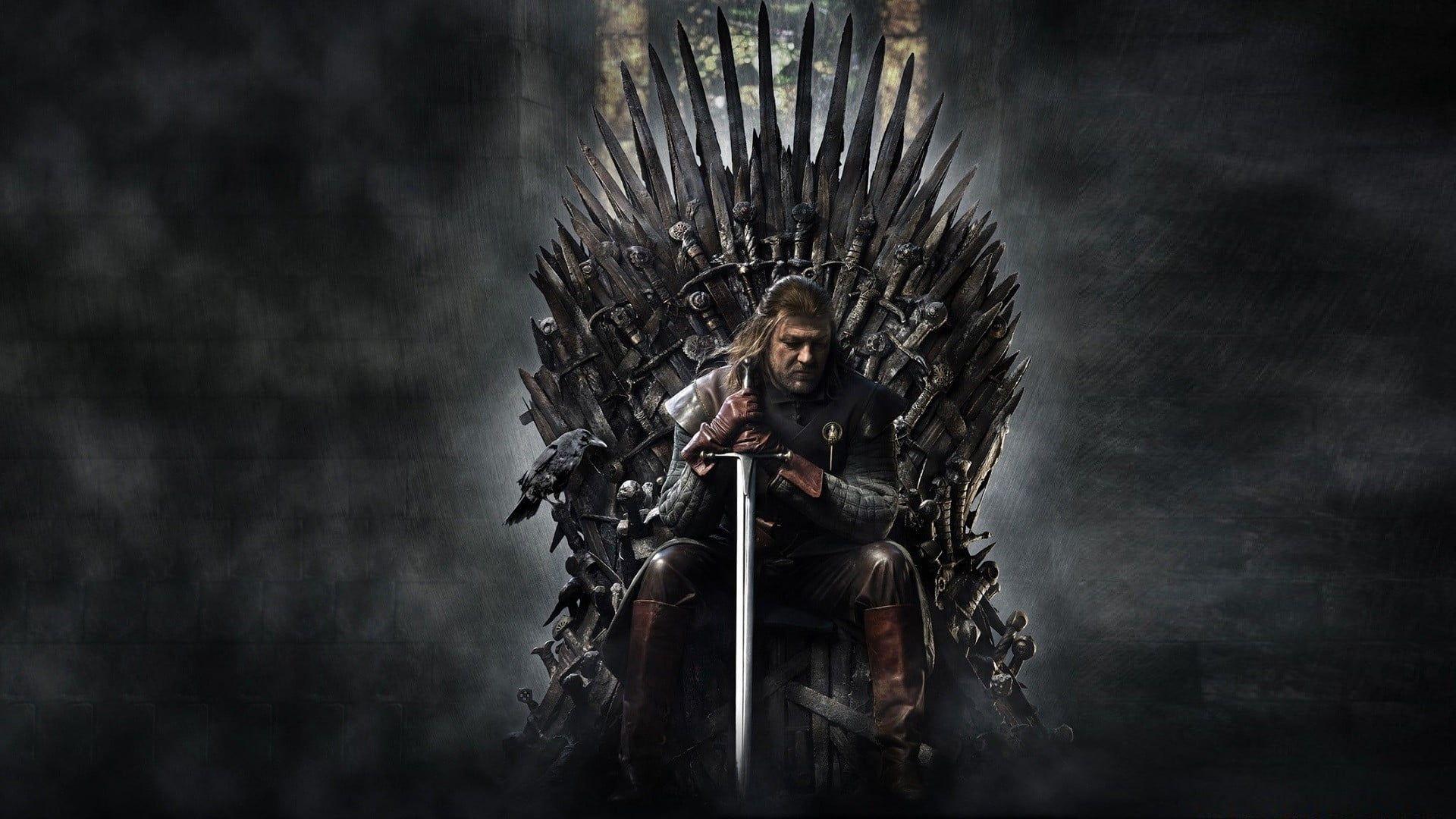 Game Of Thrones Eddard Stark Sean Bean Iron Throne Sword Game Of Thrones 1080p Wallpaper Hdwallpaper Desktop Iron Throne Game Of Thrones Poster Stark