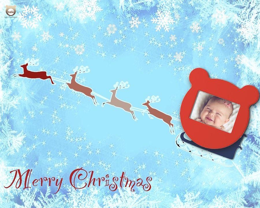 Cornice rossa natalizia per un dolce regalo firmato talù!