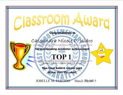 Top  Cert  Subject Achiever Template Samples  Deped LpS