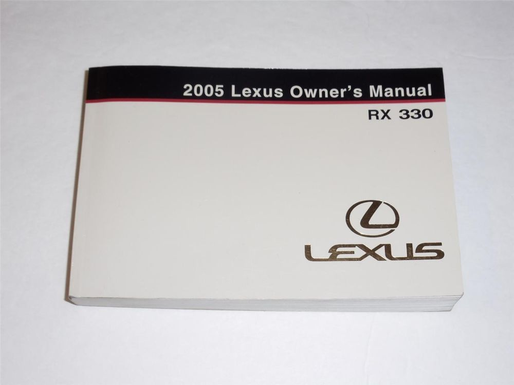 2005 Lexus RX 330 Owners Manual Book Guide