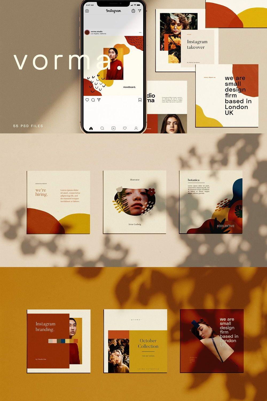 Vorma Instagram Square Template Instagram Template Design Instagram Square Instagram Design