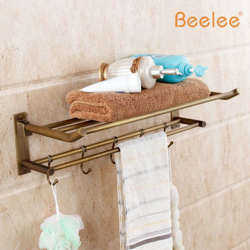 Beelee BL6203A Wholesale and Retail Antique Brass Bathroom Towel ...