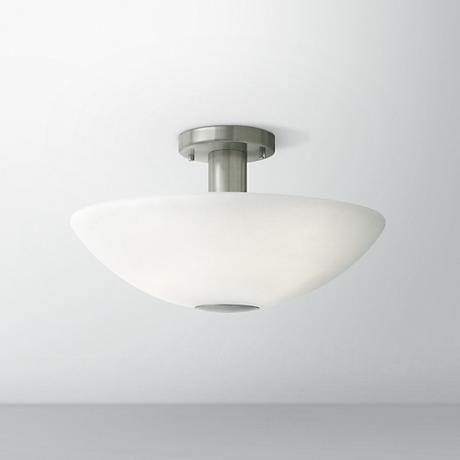Hinkley camden 16 wide brushed nickel ceiling light