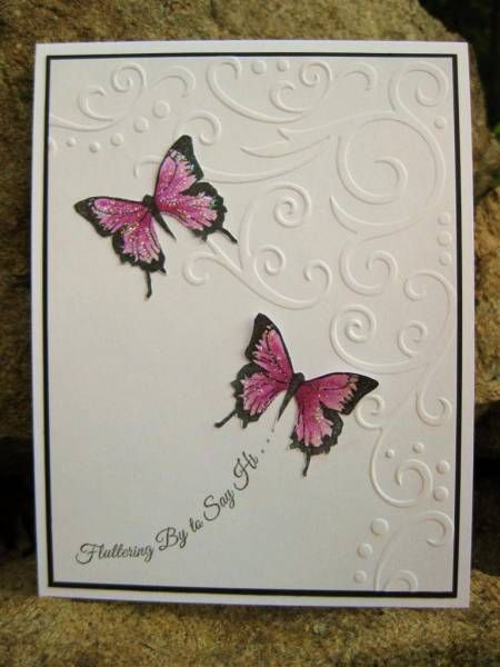 love the butterflies with corner embossing folder