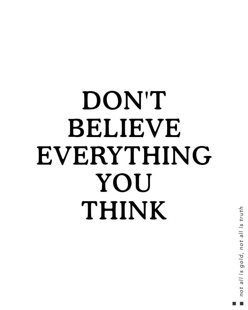 Dont Believe Everything You Think Muscle Tank Power Of The Mind