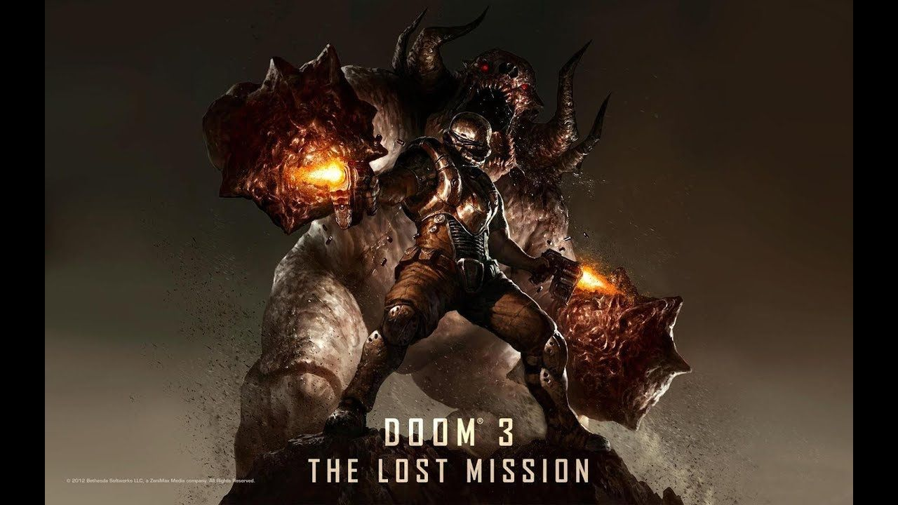 DOOM 3 The Lost Mission 1 Gameplay Xbox 360 \ Enpro