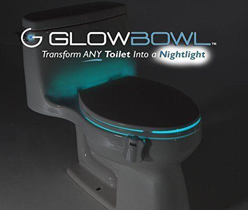 glowbowl bathroom toilet led night light motion sensor activated multicolour glowbowl