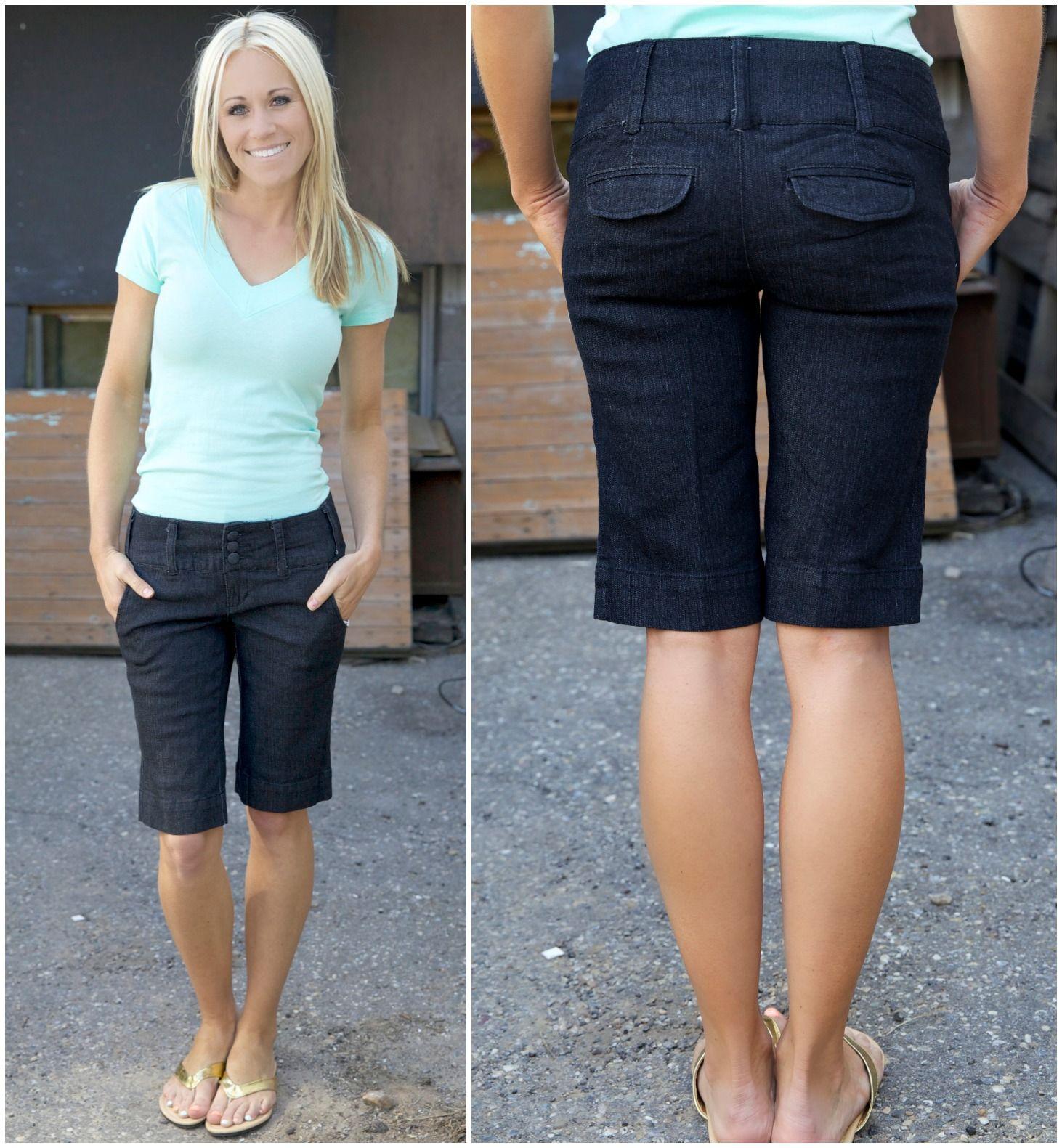 Vogue & Virtue: Knee-length Shorts 2013 | Dark denim, Bermudas and ...