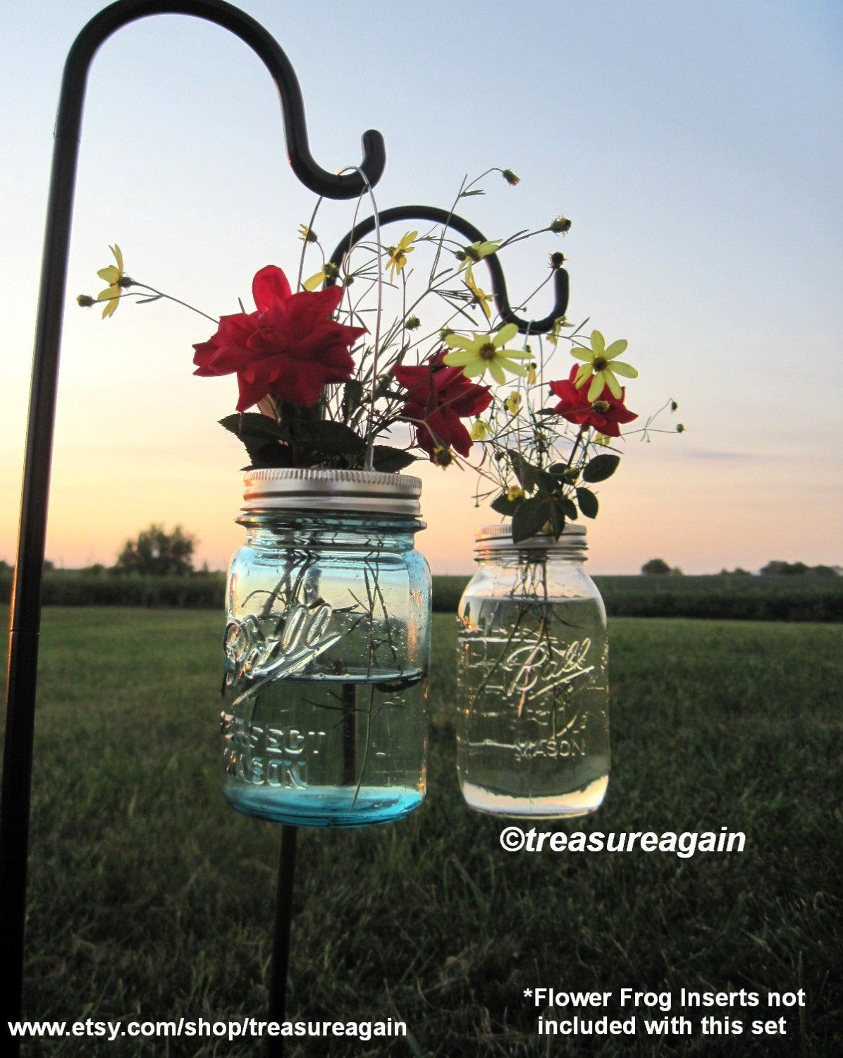 Mason Jar Lantern Lid DIY Hanging Candle Lanterns, Outdoor