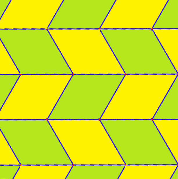 Geometric Tessellation With Rhombus Pattern on Printable Tessellations
