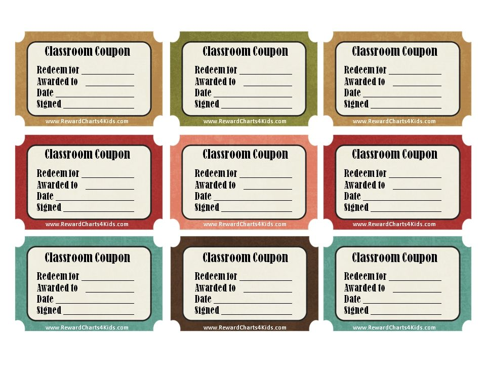 Classroom Coupon Template - Google Search … | Pinteres…