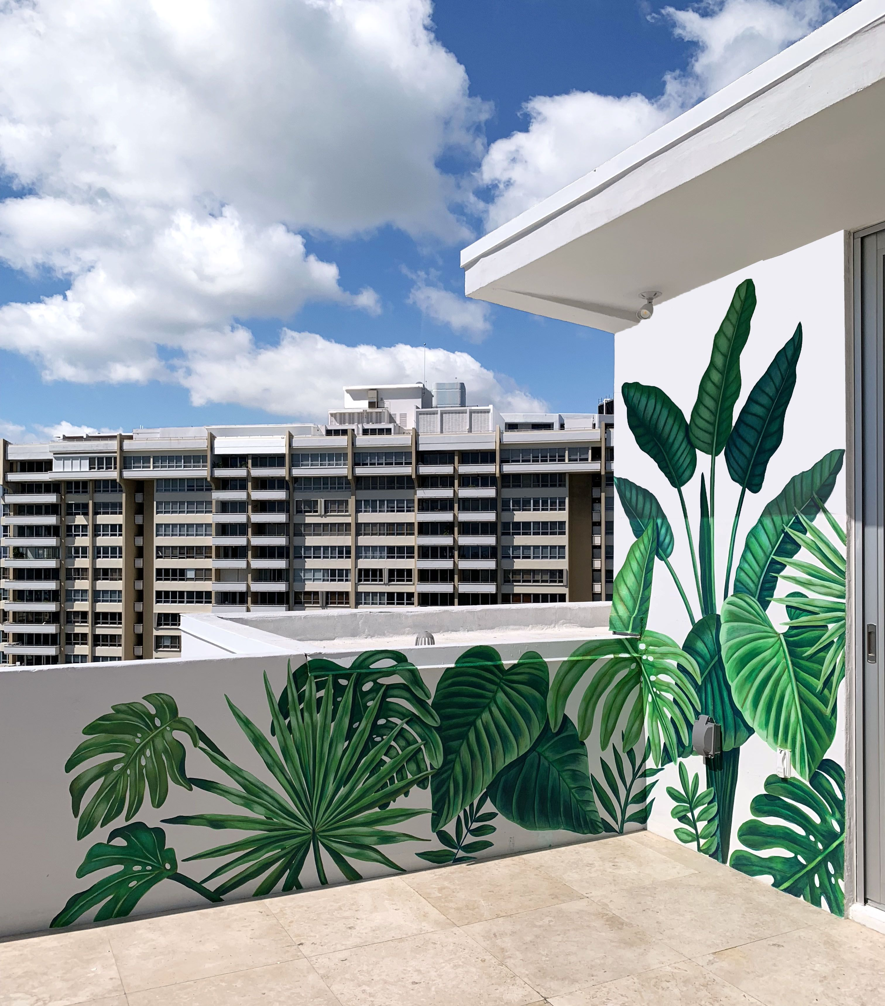 Mural Painted In Miami Beach For A Client By Nscb Studios With