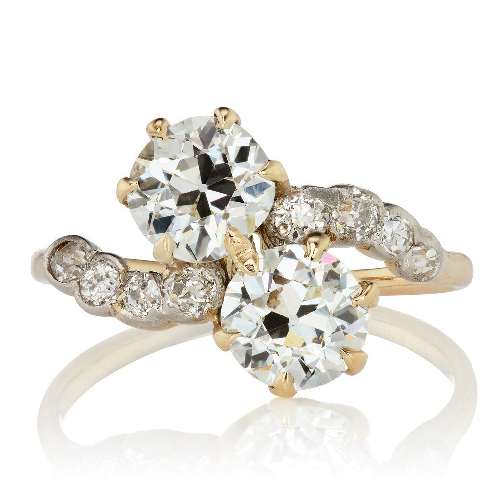 2c5b41a0dc0f Yellow Gold Moi Et Toi Engagement RingThe Aya ring is an Edwardian Ring  circa 1905! This yellow gold moi et toi engagement ring features two  beautiful old ...