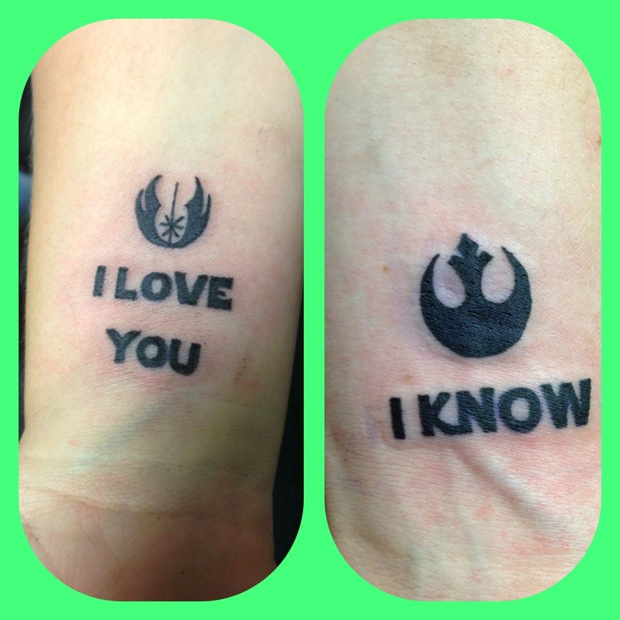 I Love You More Than Quotes: Couple Tattoo Inspired By Star Wars.