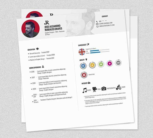 Plantillas creativas de curriculum vitae gratis : Diseño CV ...