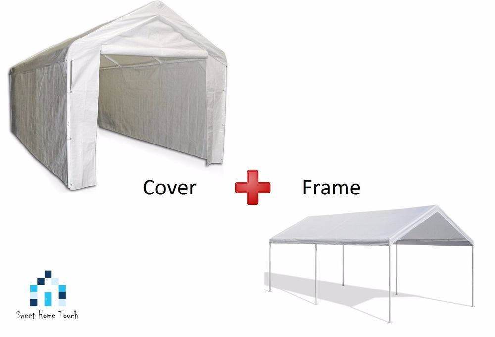 Canopy · Outdoor Canopy Carport ...  sc 1 st  Pinterest & Outdoor Canopy Carport Car Shelter Frame 10x20 Portable Garage ...