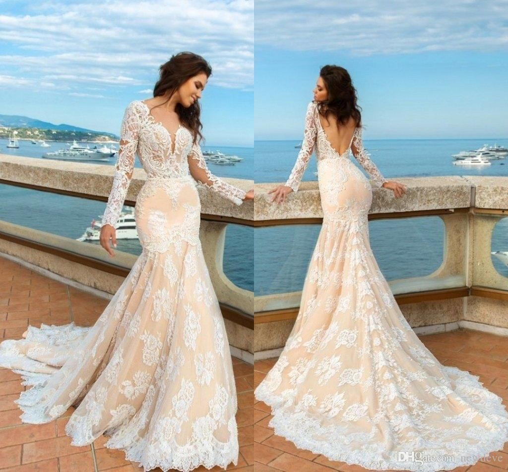 Beach wedding dresses mermaid style  Middle East  Wedding Dresses Mermaid Bridal Dresses Trailing