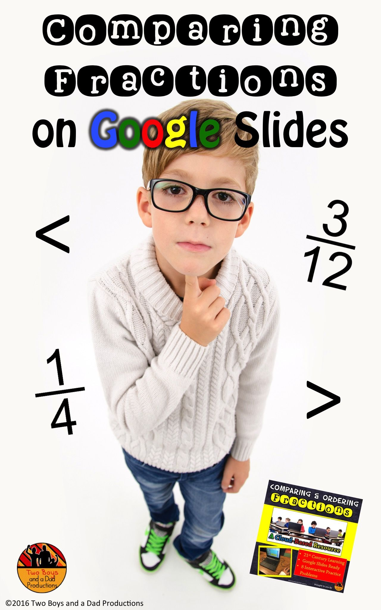 Comparing Fractions And Ordering For Slides With