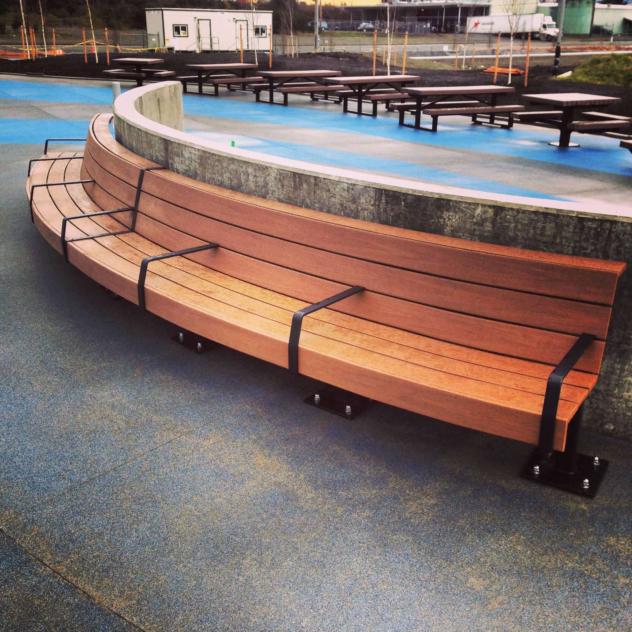 systems curved bench commercial benches berwick australia img product e