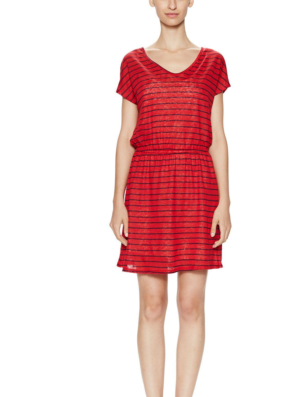 Linen Jersey Striped Dress